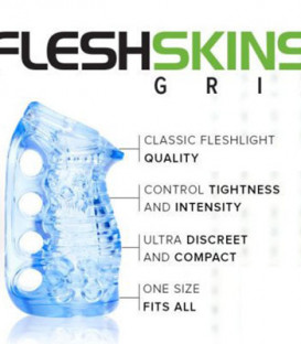 Blue Ice FleshSkins Grip Masturbation Sleeve - Fleshlight