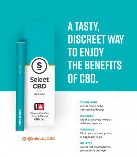 Select CBD Disposable Ceramic Vape Pen - Cura Select
