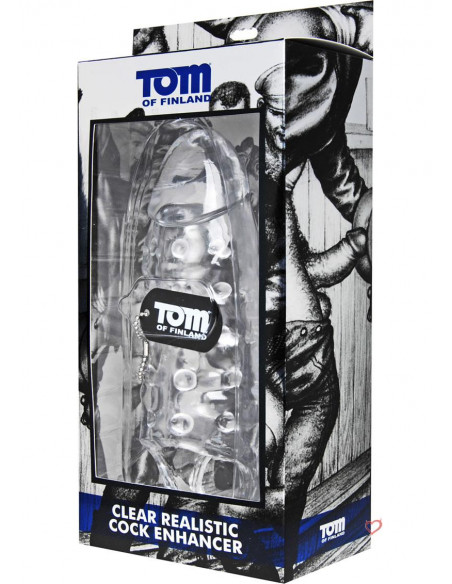 Tom of Finland Clear Realistic Penis Enhancer - Tom of Finland Tools