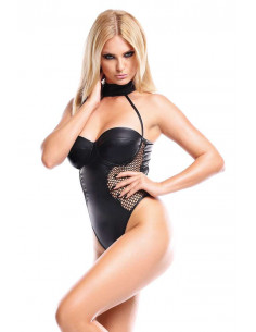 Dark Desire Leatherette Bodysuit - Demoniq