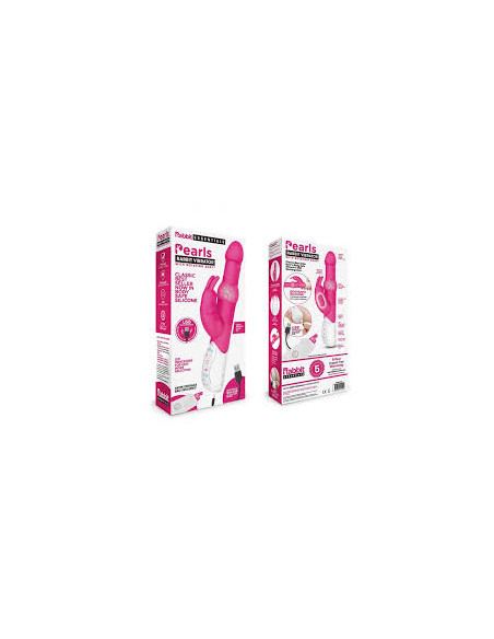Pearls Rabbit Vibrator with Rotating Shaft - Rabbit Essentials