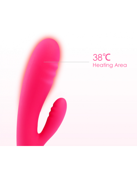 Adonis Ultra Soft Warming Rabbit Vibrator - Svakom