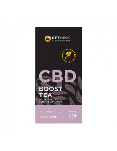 CBD Boost Tea with Lemon & Cinnamon -...