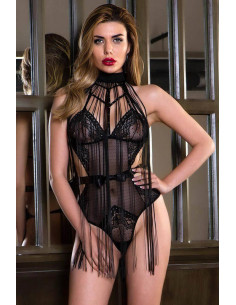Mesh and Lace BodySuit with...