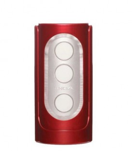 Flip Hole D2 Red Vibrating Male Masturbator - Tenga