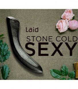 Laid D2 Black Granite Stone Twisted Dildo