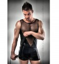 Passion Leatherette & Mesh Tank and Boxer