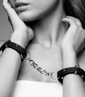 Maze Thin Leatherlook Handcuffs - Bijoux