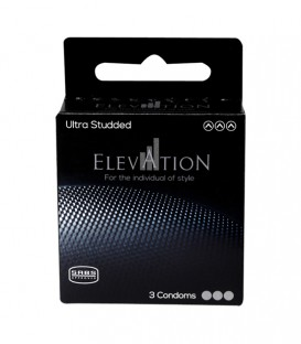 Elevation Ultra Studded Condoms - 3 Pack