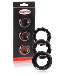 Stretchy Penis Rings - Set of 3 - Malesation