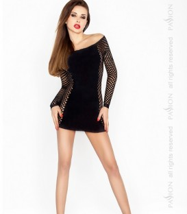 Side Panel Detailed Minidress Body Stocking - Passion