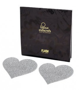 Flash Heart Glitter Nipple Pasties | Bijoux