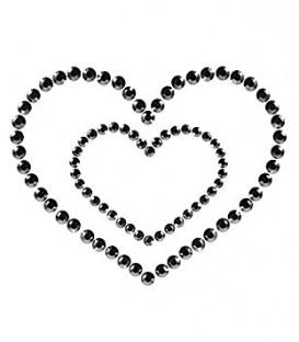 Mimi Rhinestone Heart Pasties | Bijoux