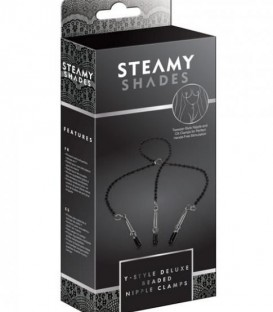 Y-Style Deluxe Beaded Clitoral & Nipple Clamps | Steamy Shades 2