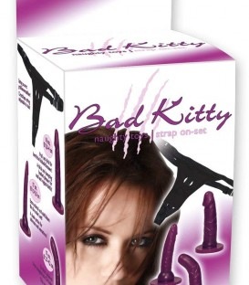 3 Piece Strap On Set - Bad Kitty