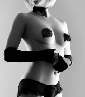 Burlesque Nipple Pasties with Bow - Bijoux
