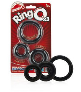 RingO Penis Rings (Pack of 3) - Screaming O