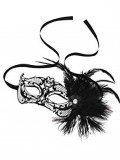 Mardi Gras Mask with Feathers - Steamy Shades