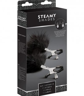 Adustable Feather Nipple Clamps - Steamy Shades