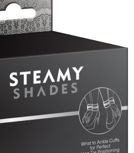 Wrist to Ankle Cuffs - Steamy Shades