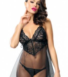 Look At Me Clotilde Babydoll and Thong Set - Demoniq Lingerie