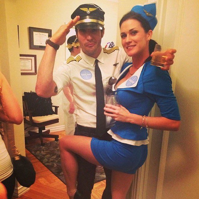 Sexy adult costumes pilot stewardess