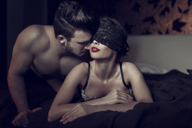 man prepares for kink with fetish wear